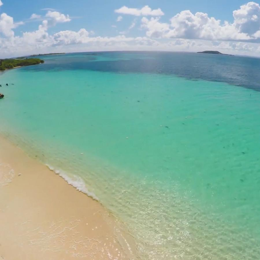 Aerial view of Icacos Beach.