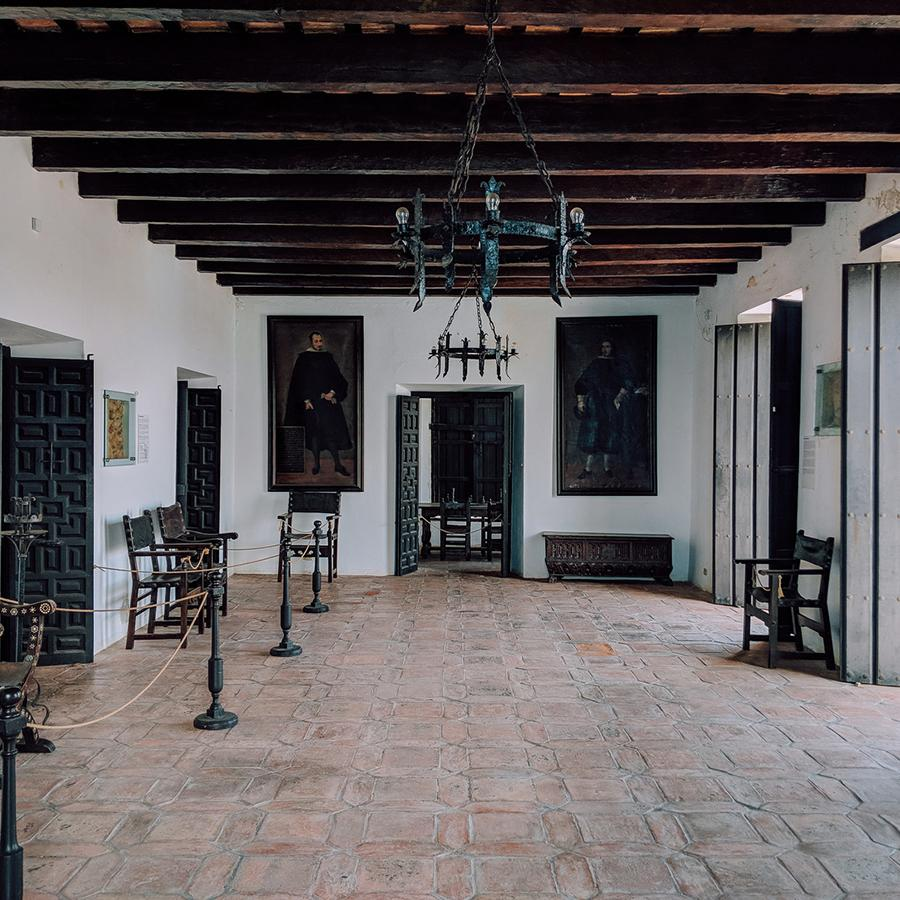 Inside view of the Casa Blanca Museum in Old San Juan.
