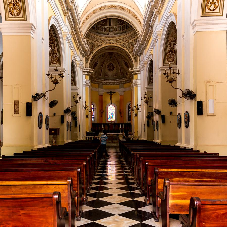 Inside view of the San Juan Cathedral.
