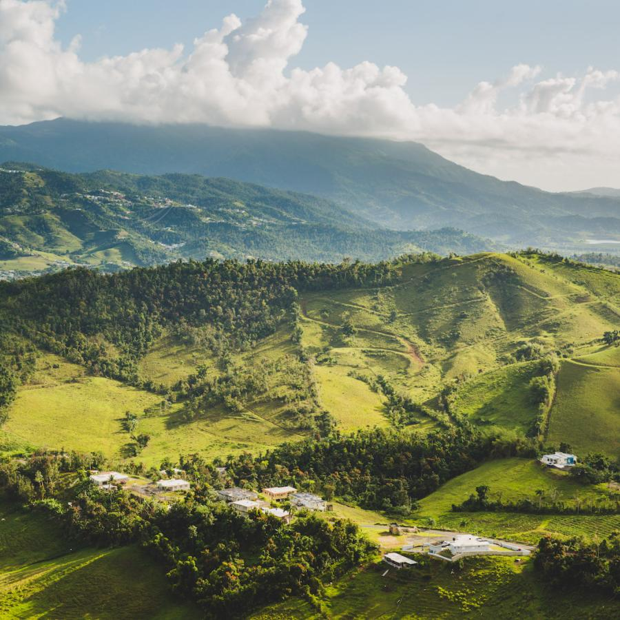 Breathtaking view of the lush valleys in Las Piedras.
