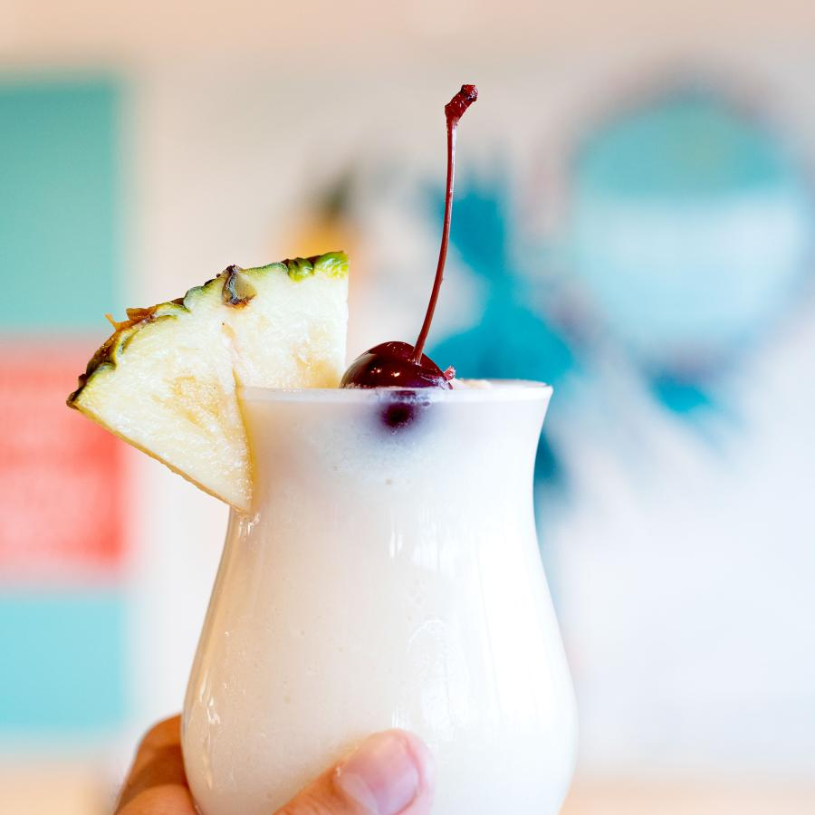Pina Colada at the Caribe Hilton Hotel
