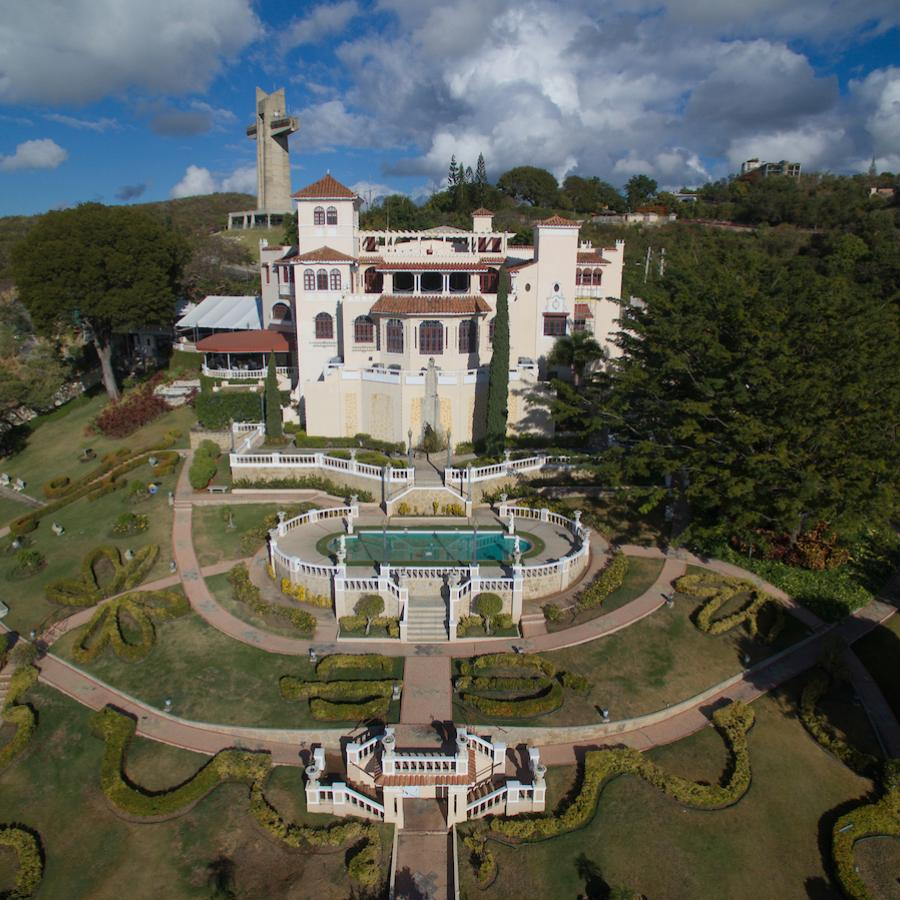 Panoramic view of the Castillo Serrallés in Ponce.