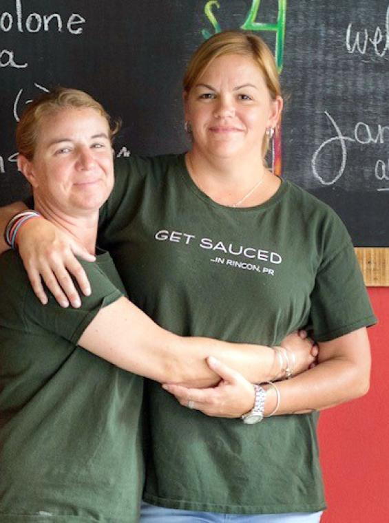 Kara Keefe and her wife Rebecca, owners of MangiaMi restaurant in Rincón.
