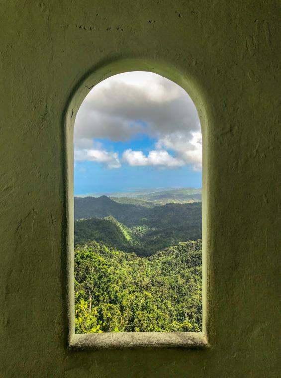 A window from Yokahu Tower.